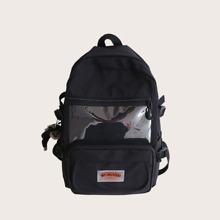 Maenner transparenter grosse Kapazitaet Rucksack mit Taschen vorn