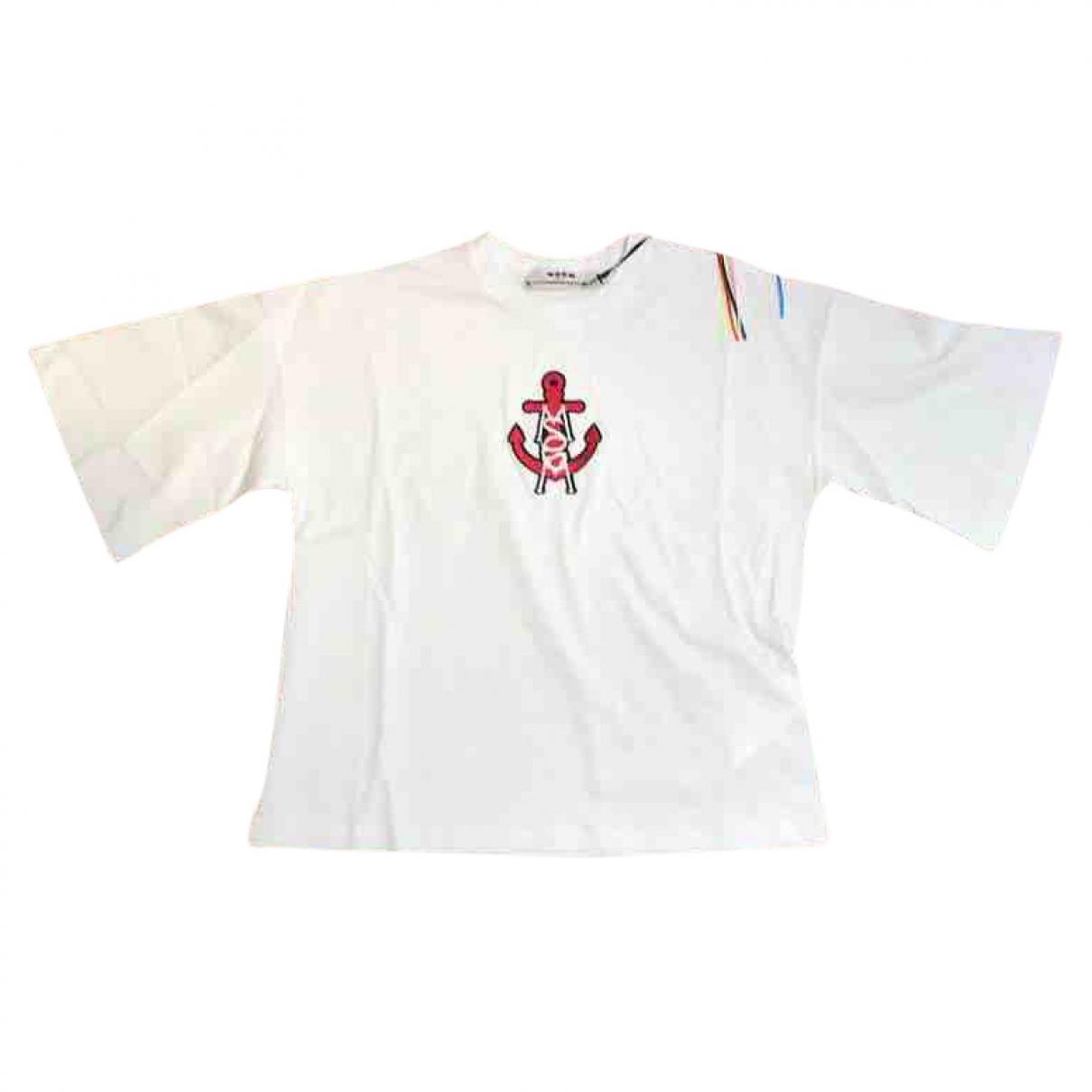 Msgm - Top   pour femme en coton - blanc
