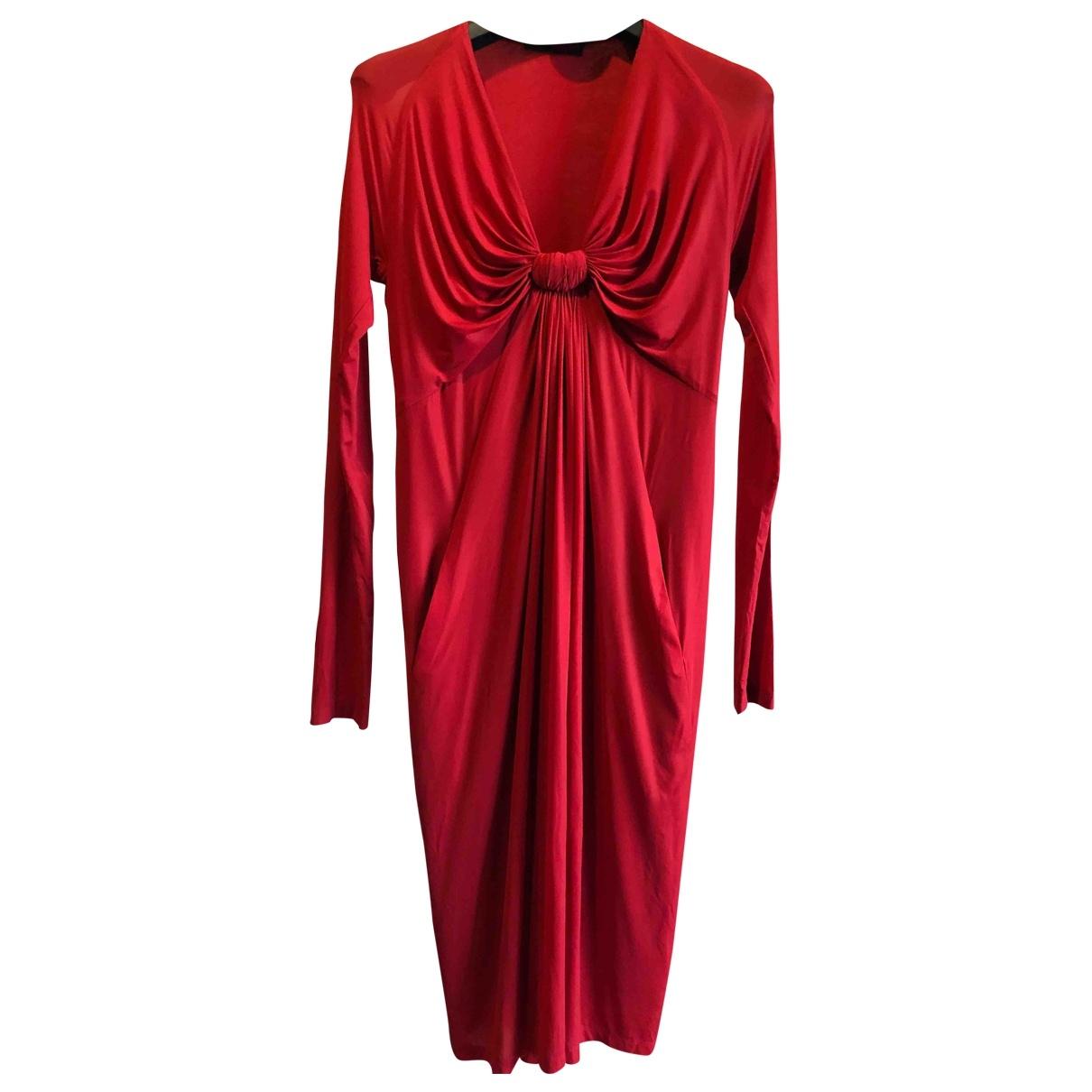 Donna Karan \N Kleid in  Rot Synthetik