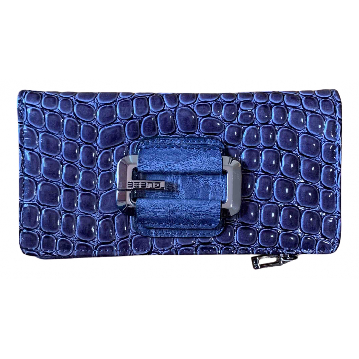 Guess N Purple Patent leather wallet for Women N
