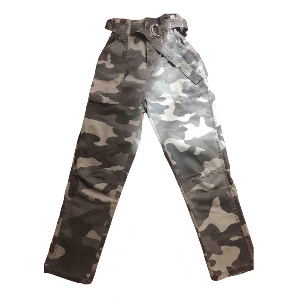 River Island \N Khaki Cotton Trousers for Women 34 FR