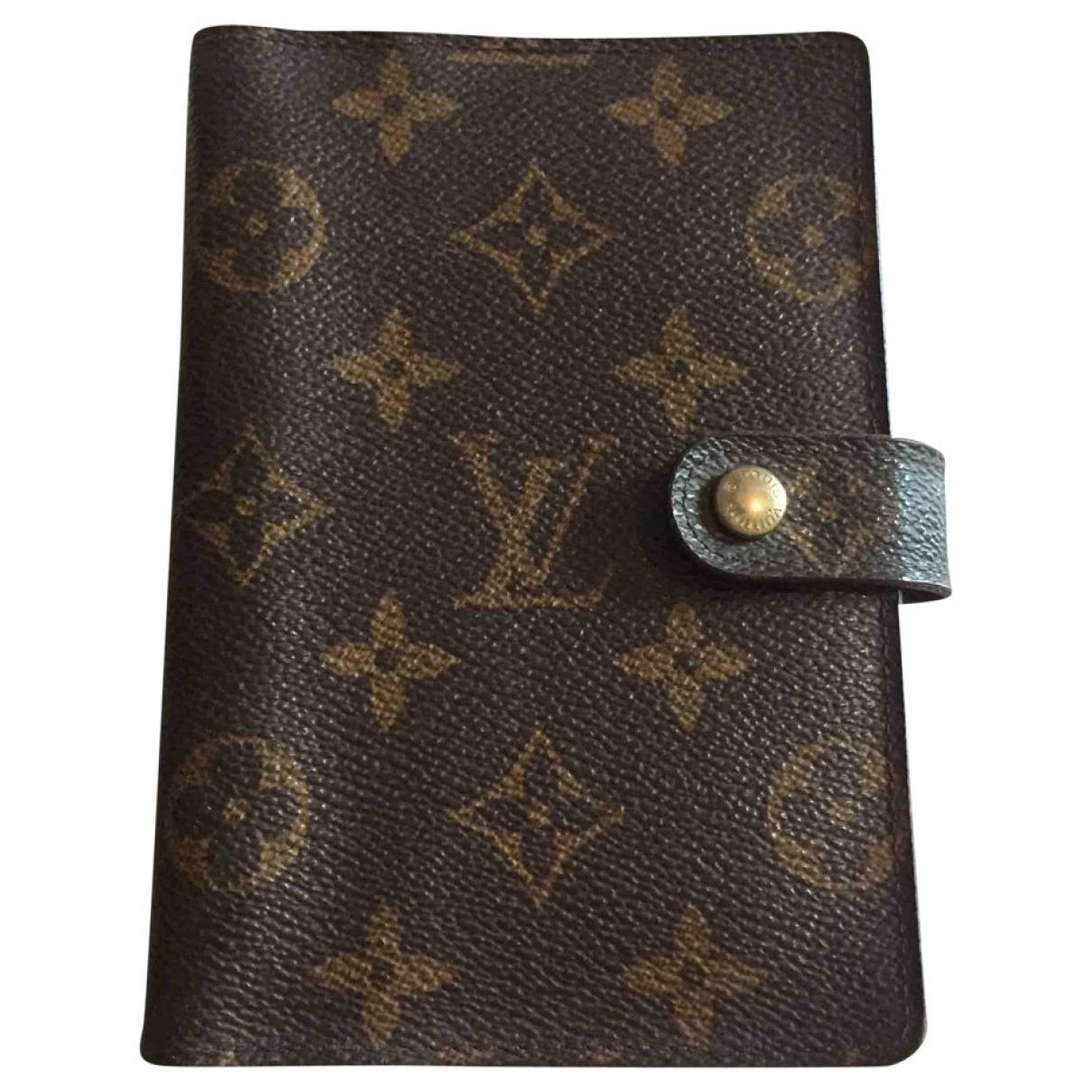 Louis Vuitton Couverture d'agenda PM Brown Cloth Home decor for Life & Living \N