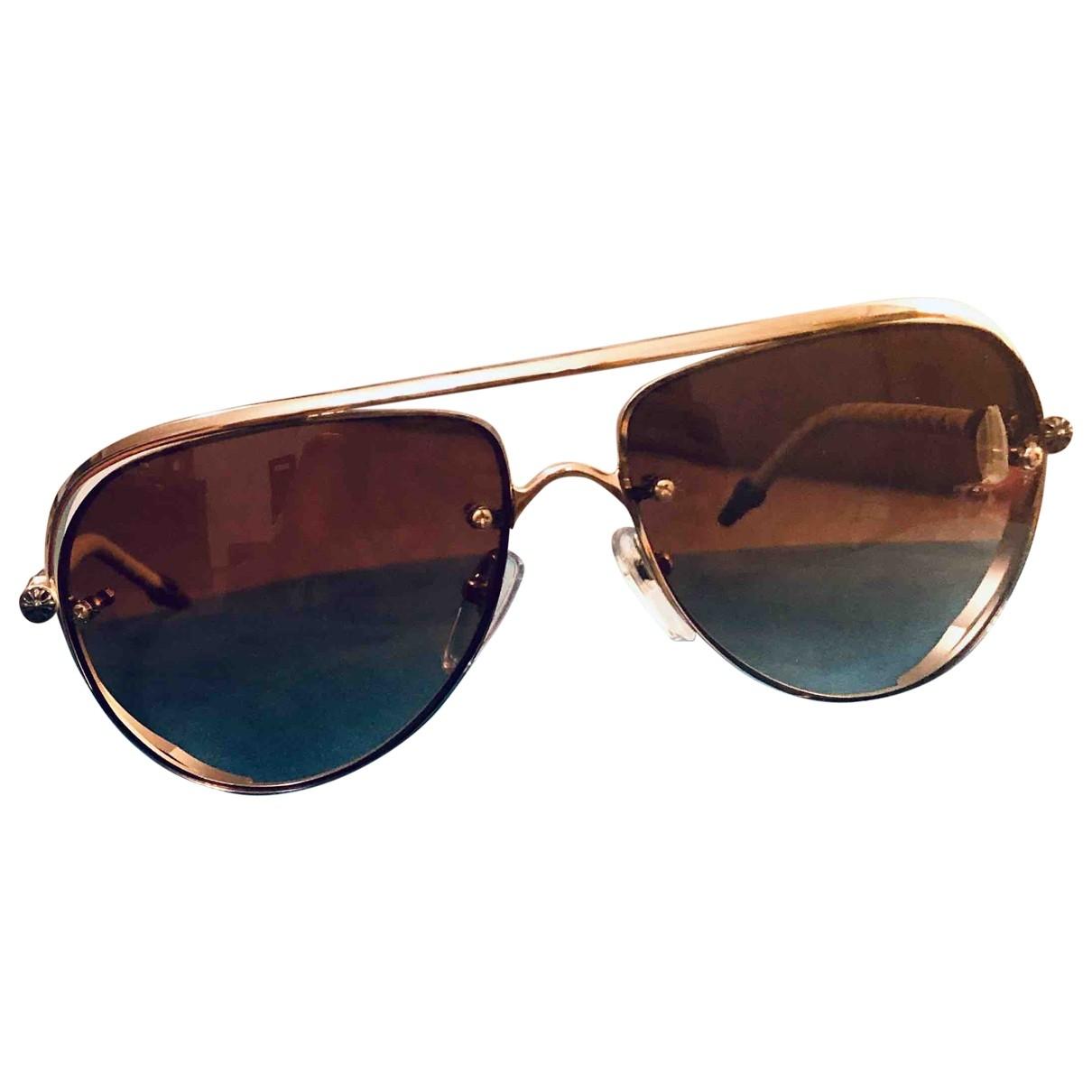 Chrome Hearts \N Gold Metal Sunglasses for Men \N