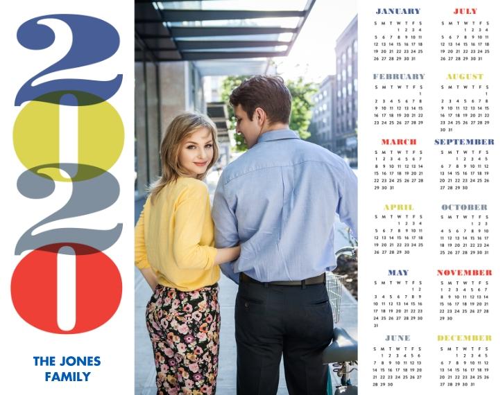 Calendar 11x14 Poster, Home Décor -A Bold New Year