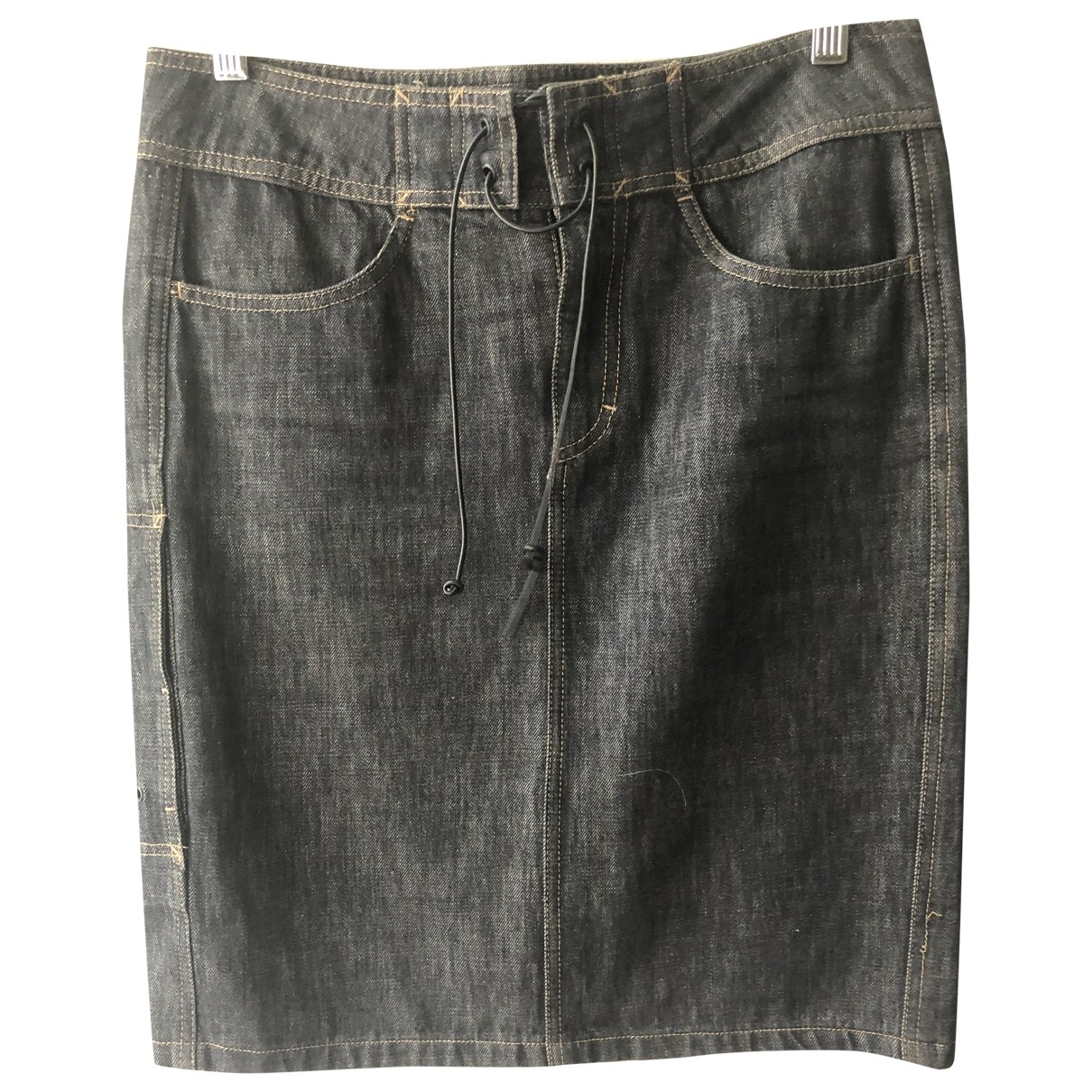 Gucci \N Black Denim - Jeans skirt for Women 42 IT
