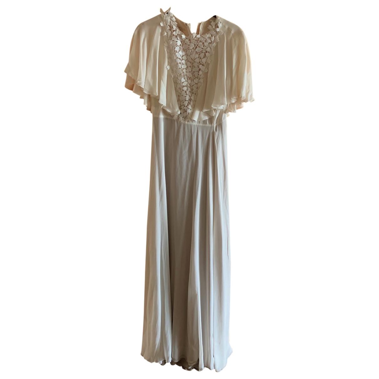 Giambattista Valli \N Ecru Silk dress for Women 8 UK