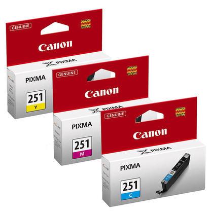 Canon PIXMA MG6620 cartouches encre couleurs C/M/Y originales, ensemble de 3 - rendement standard