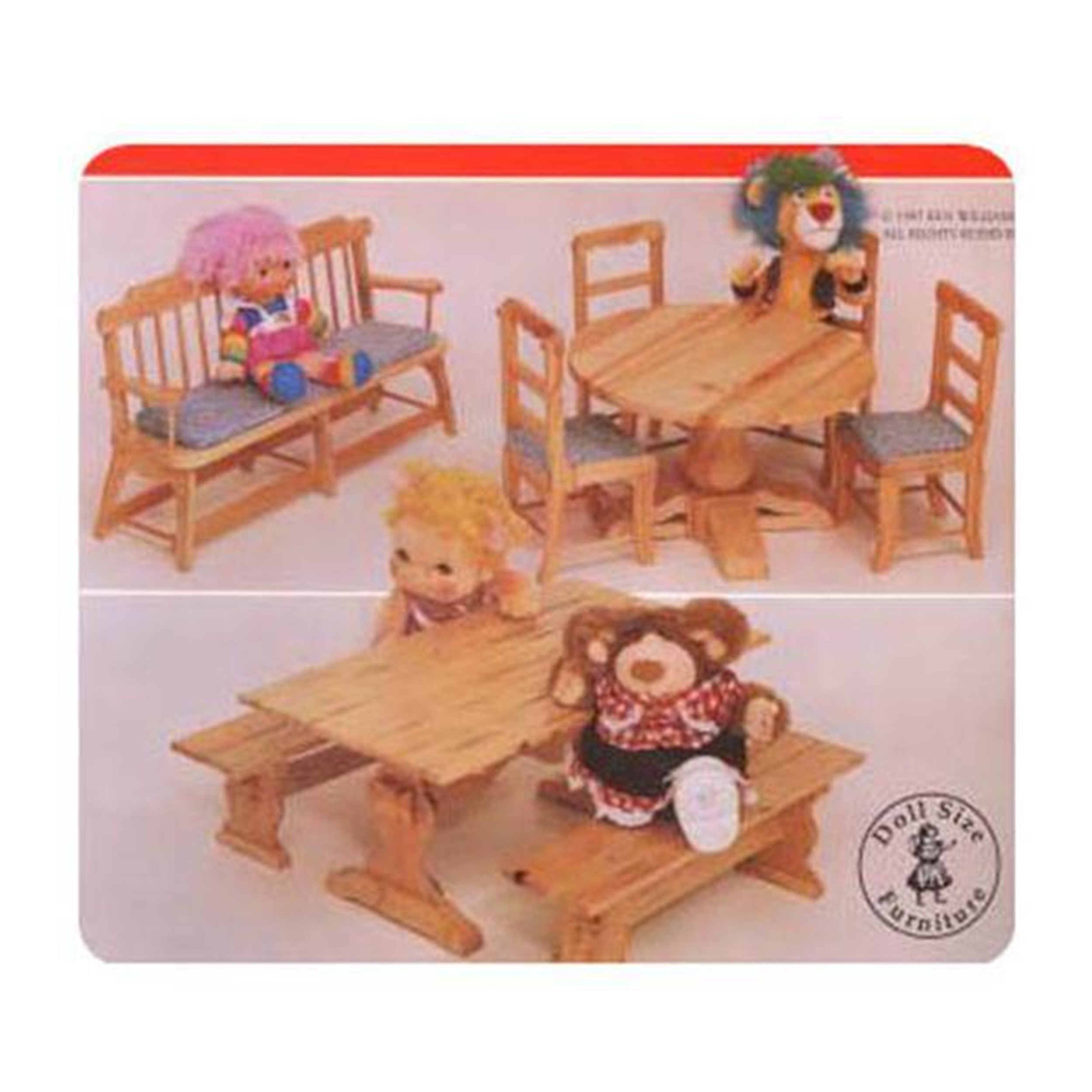 Woodworking Project Paper Plan to Build Doll Seating Group