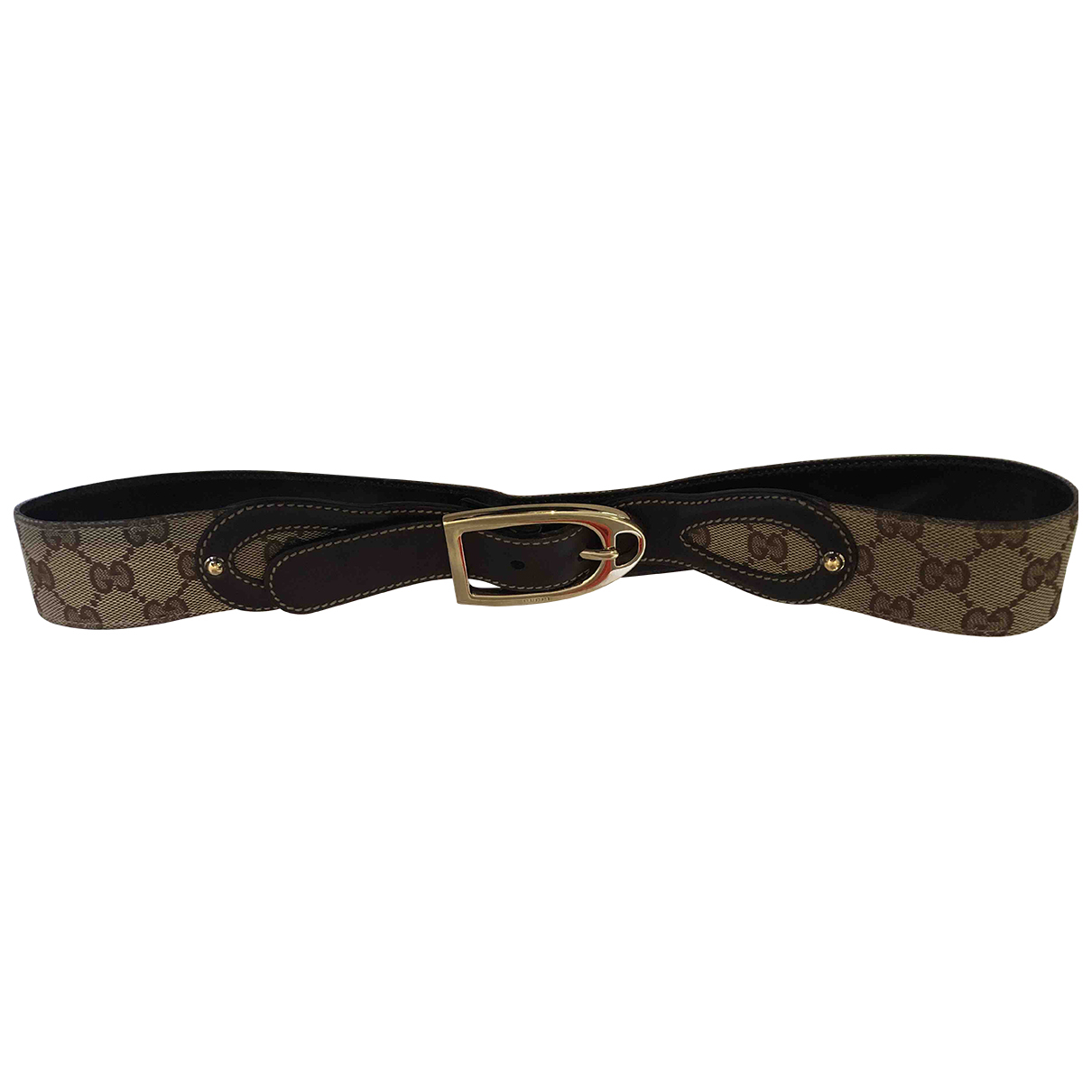 Gucci N Beige Cloth belt for Women 90 cm