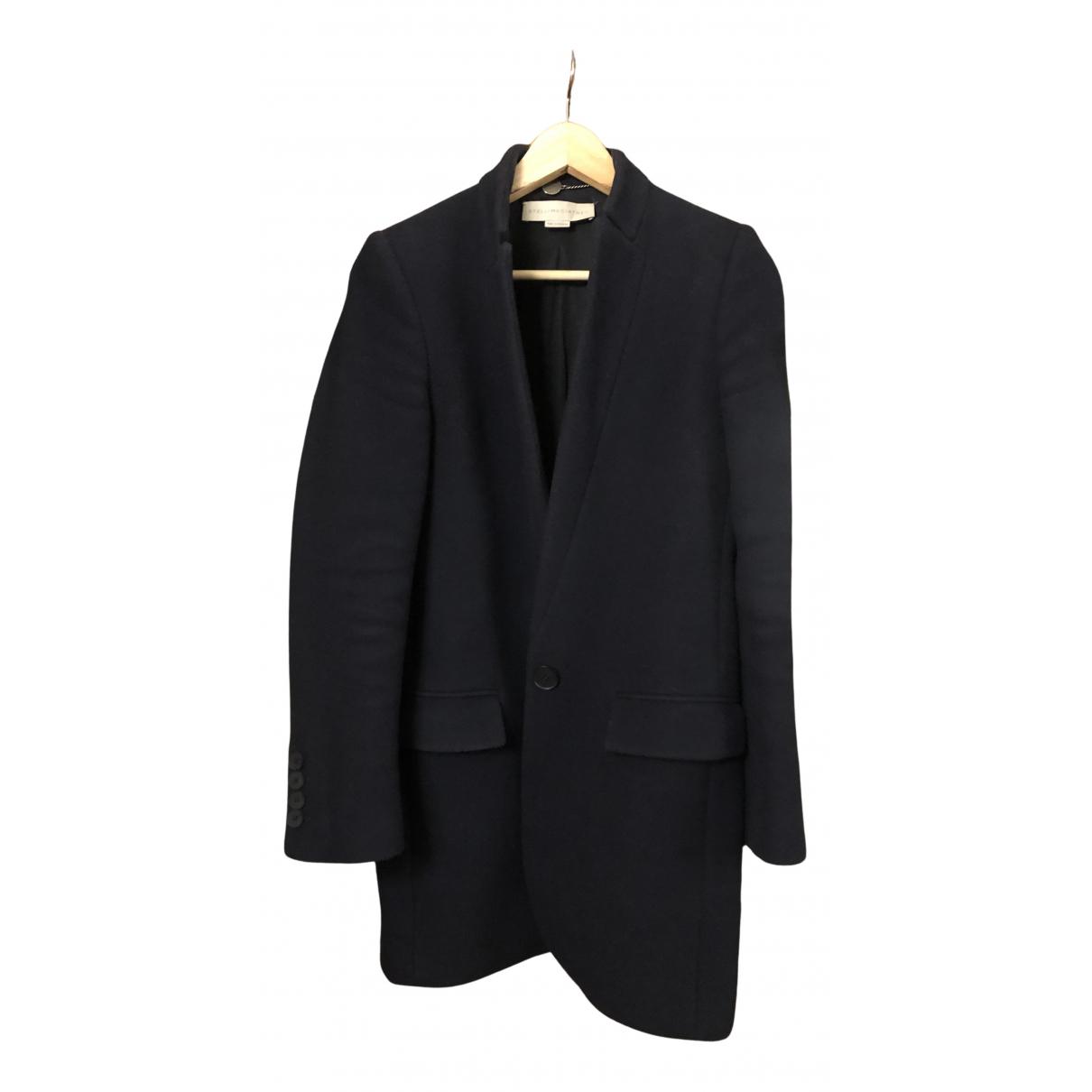 Stella Mccartney - Manteau   pour femme en laine - bleu