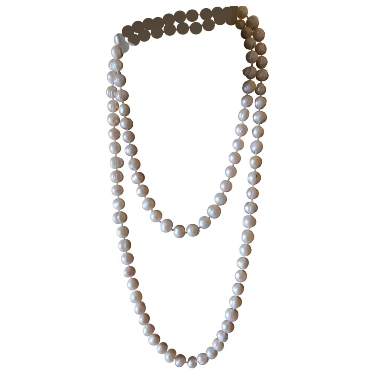 - Sautoir   pour femme en perles - blanc