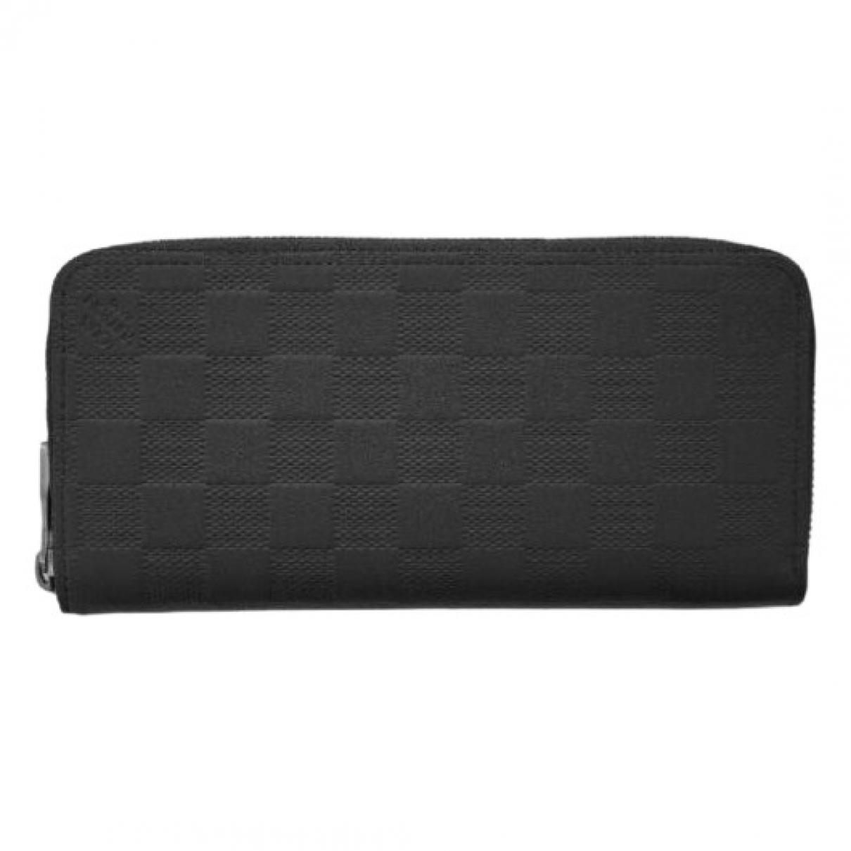 Louis Vuitton - Portefeuille Zippy pour femme en cuir - noir