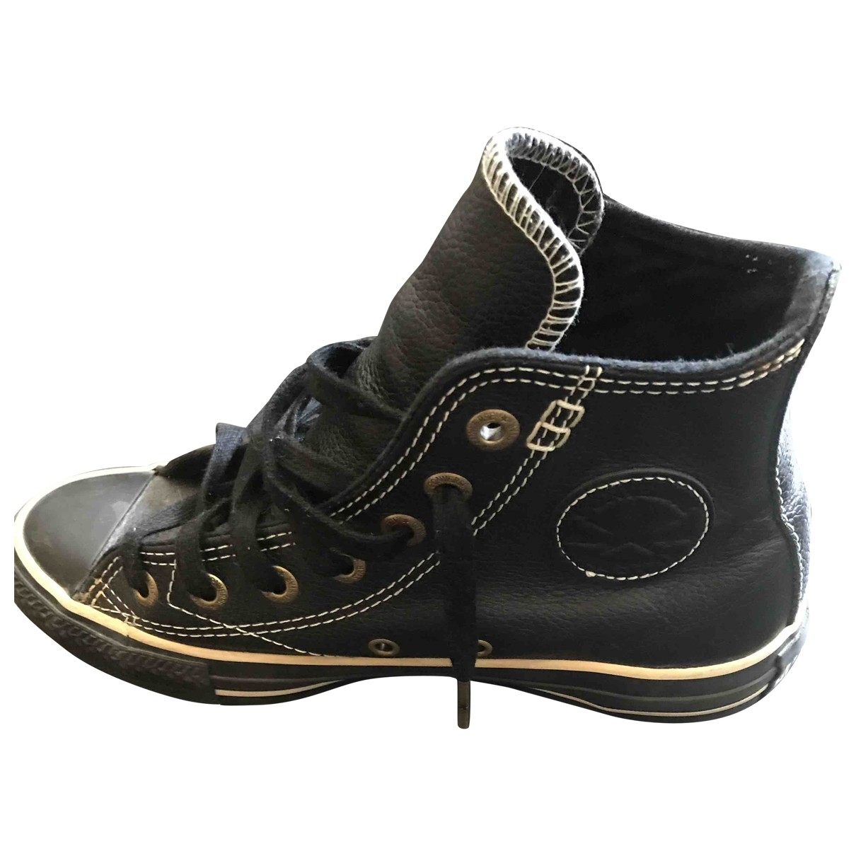 Converse \N Black Leather Trainers for Women 36 EU