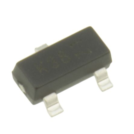 DiodesZetex N-Channel MOSFET, 200 mA, 50 V, 3-Pin SOT-23 Diodes Inc BSS138-7-F (100)