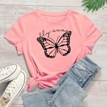 Pink Tiere Laessig T-Shirts Grosse Grossen
