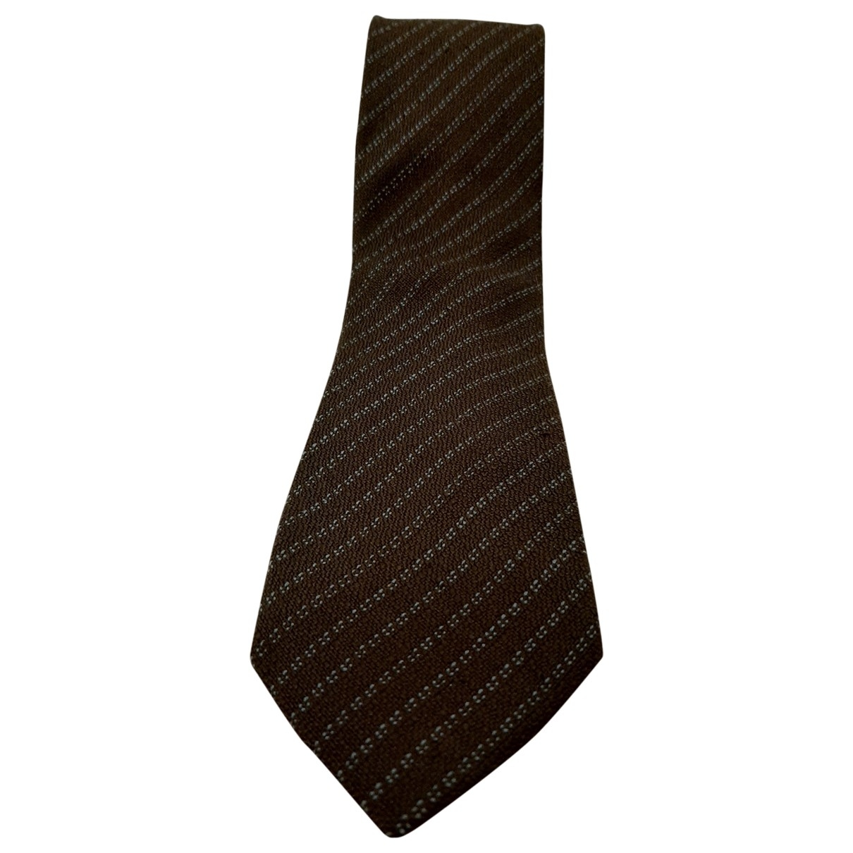 Ermenegildo Zegna \N Brown Silk Ties for Men \N