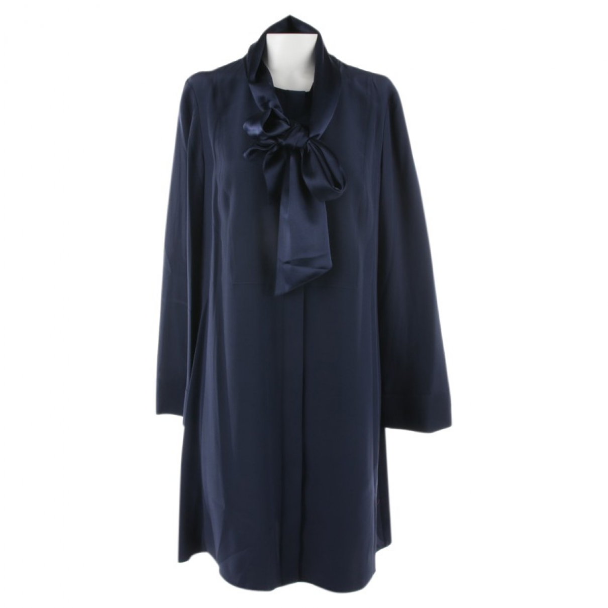 Tory Burch - Robe   pour femme en soie - bleu