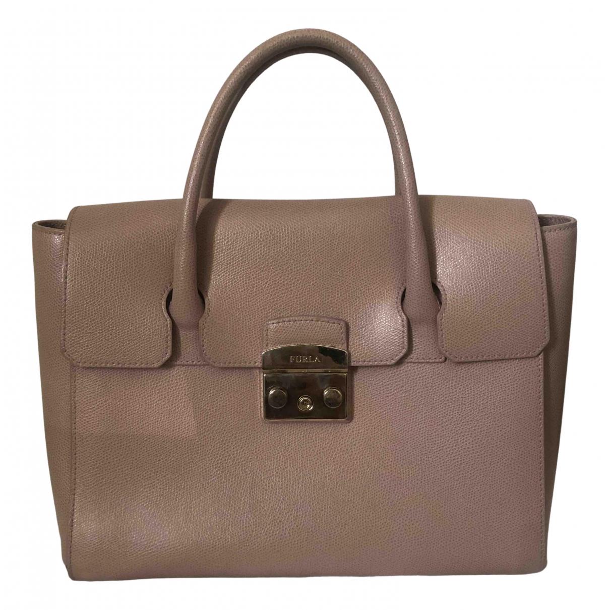 Furla Metropolis Pink Leather handbag for Women N