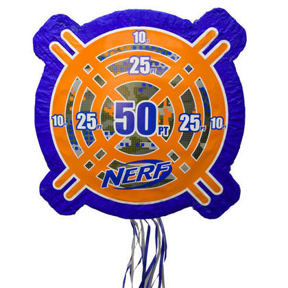 NERF 1 Shaped Drum Pull Piñata For Birthday Party