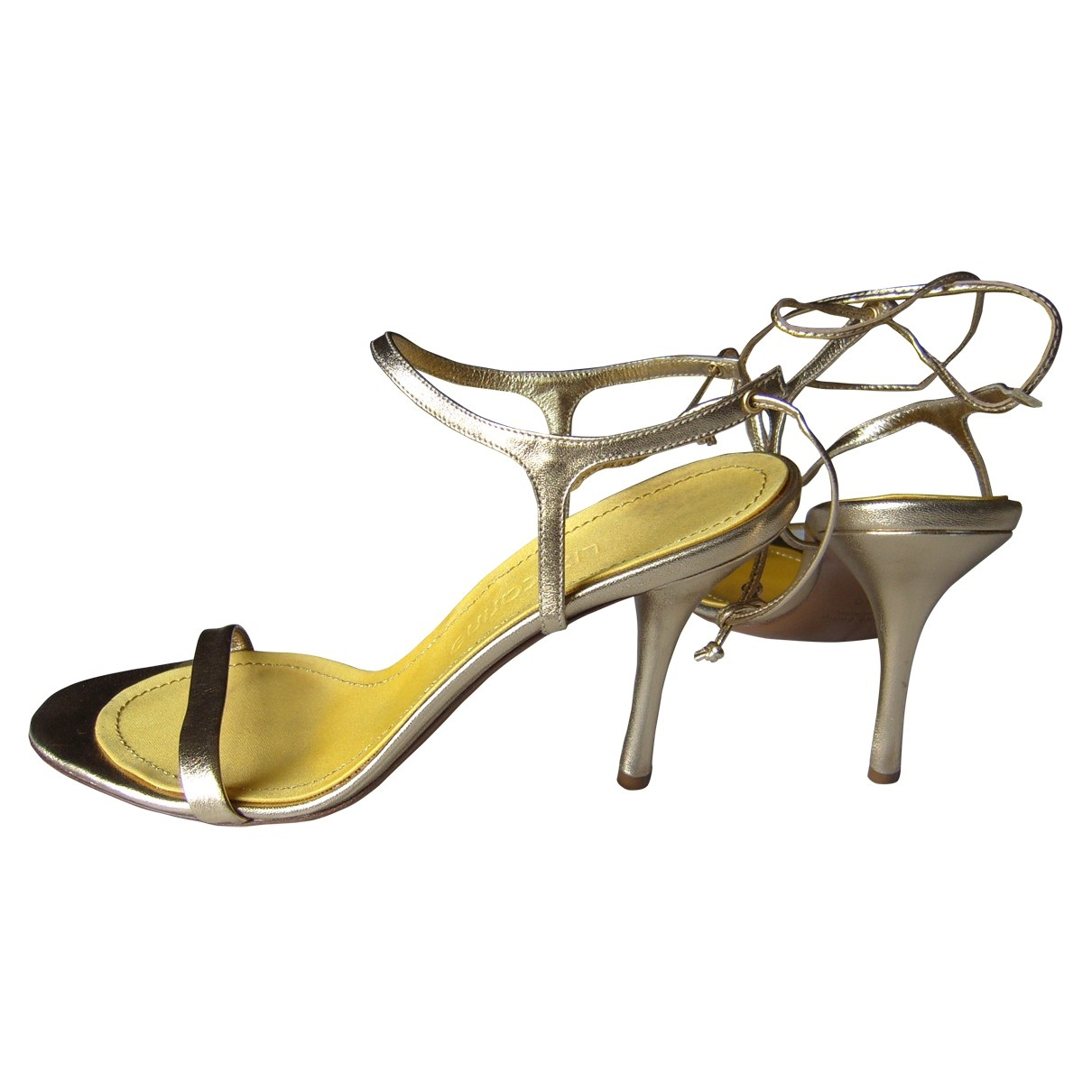 Non Signé / Unsigned \N Gold Leather Sandals for Women 40 EU
