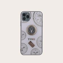 iPhone Huelle mit Zeitgetriebe Muster mit Ring