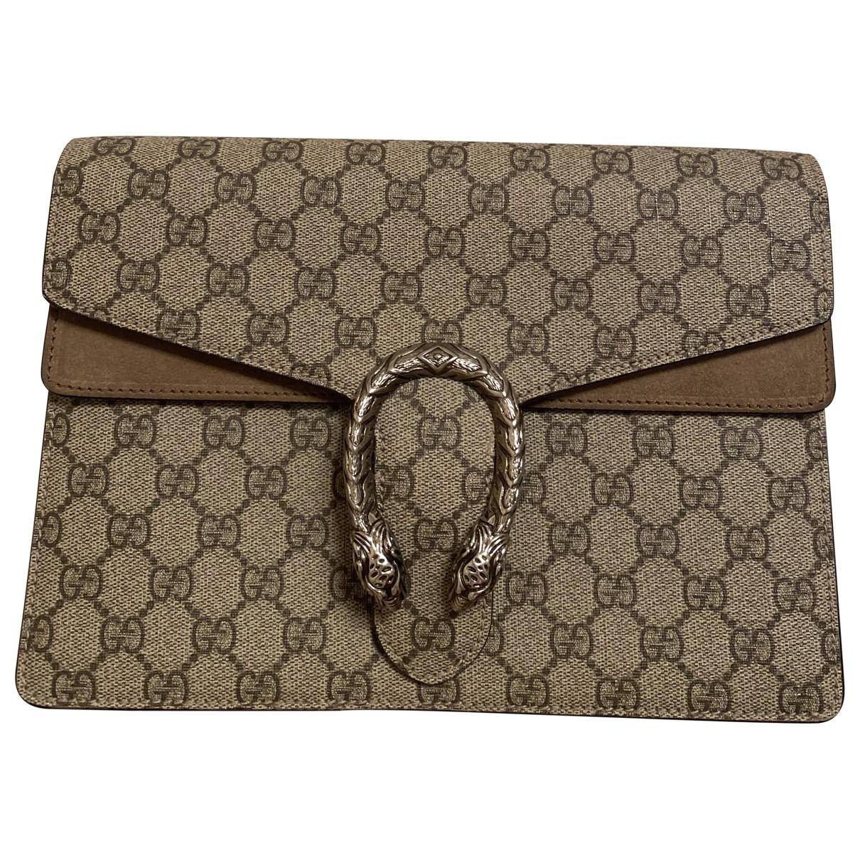 Gucci Dionysus Beige Suede Clutch bag for Women \N