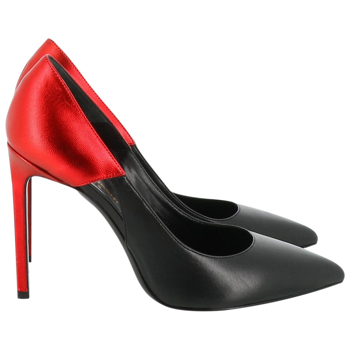 Saint Laurent \N Leather Heels for Women 38.5 EU