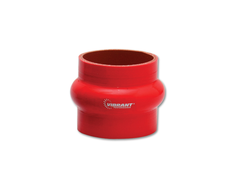 Vibrant Performance 2729R Gloss Red 4 Ply Aramid Reinforced Silicone Hump Coupler 1.5