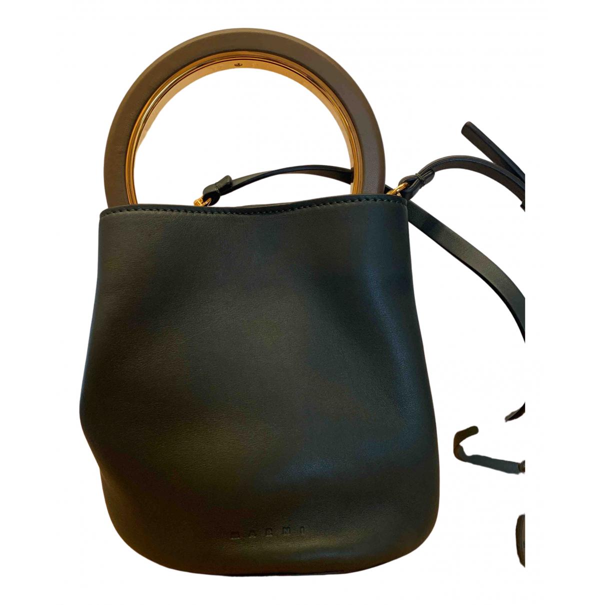 Marni Pannier Green Leather handbag for Women N