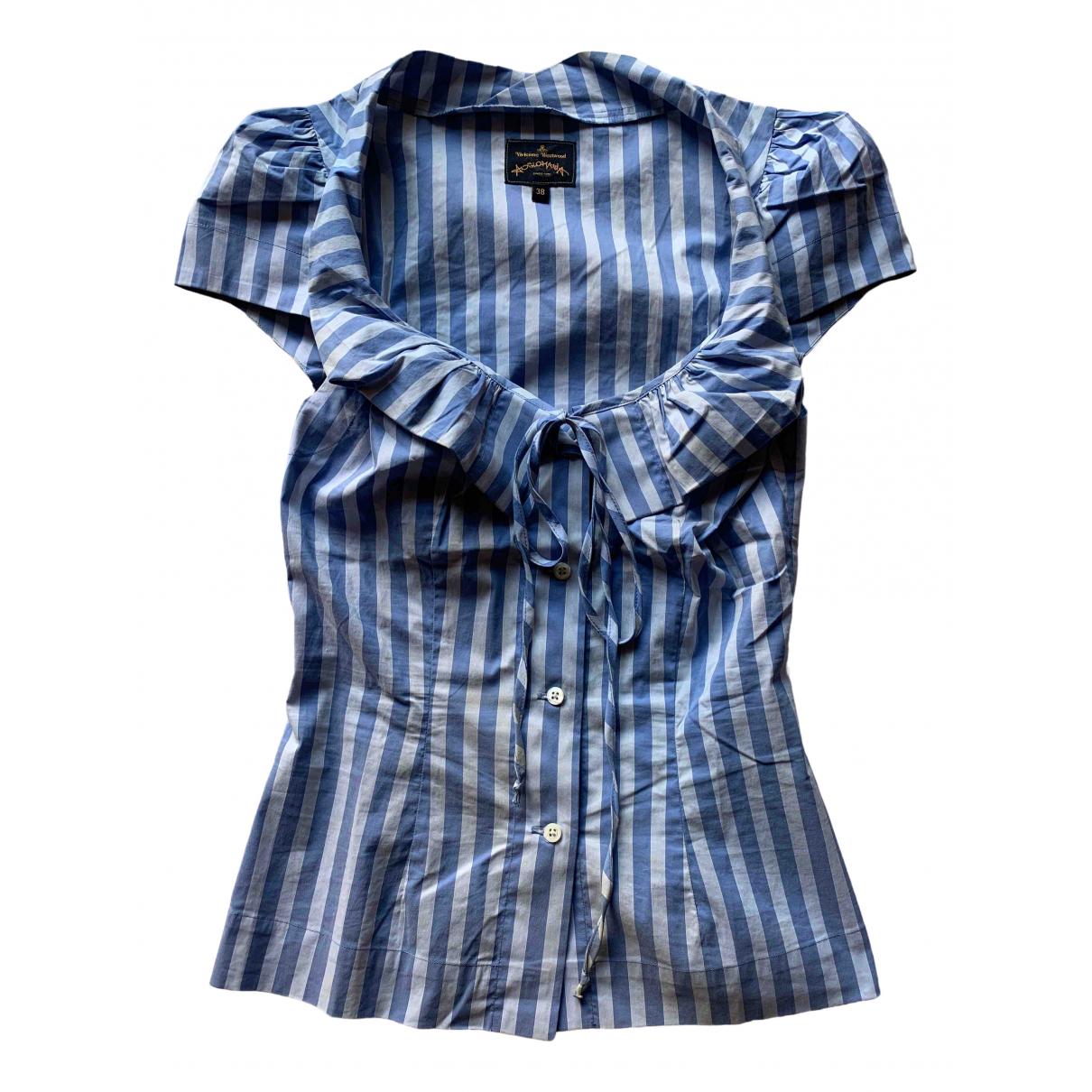 Vivienne Westwood Anglomania - Top   pour femme en coton - turquoise