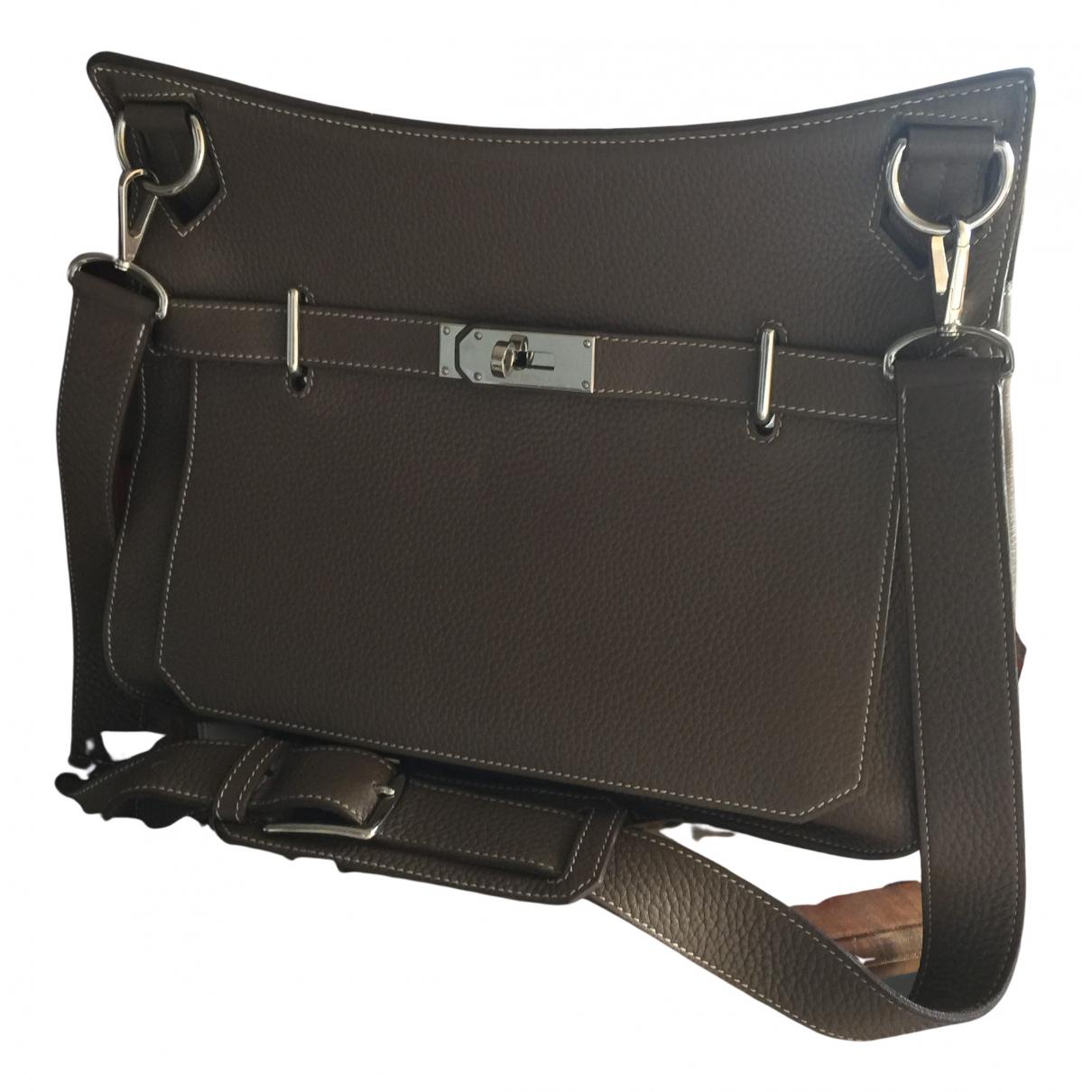 Hermès Jypsiere Grey Leather handbag for Women N