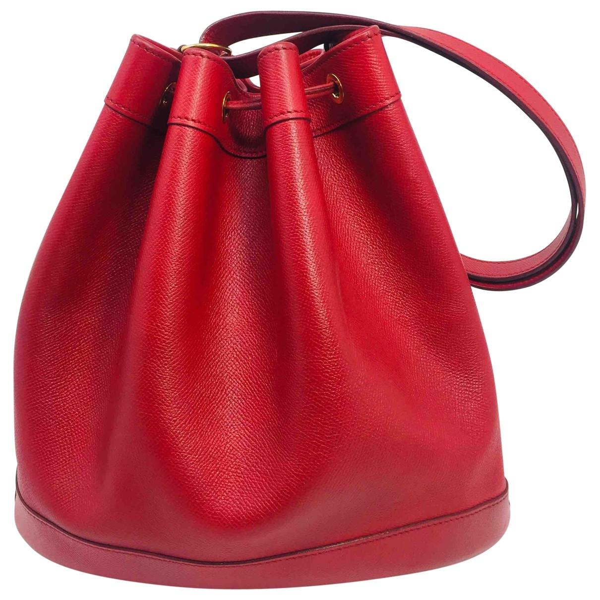 Hermes Market Handtasche in  Rot Leder
