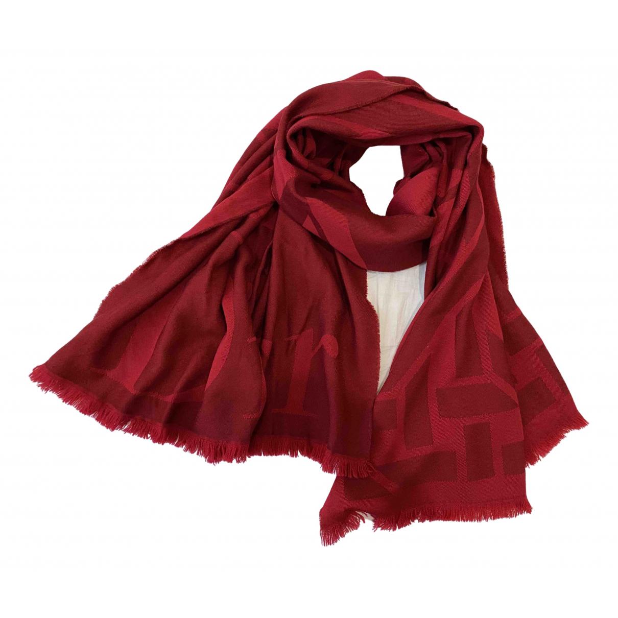 Dior \N Red Wool scarf for Women \N