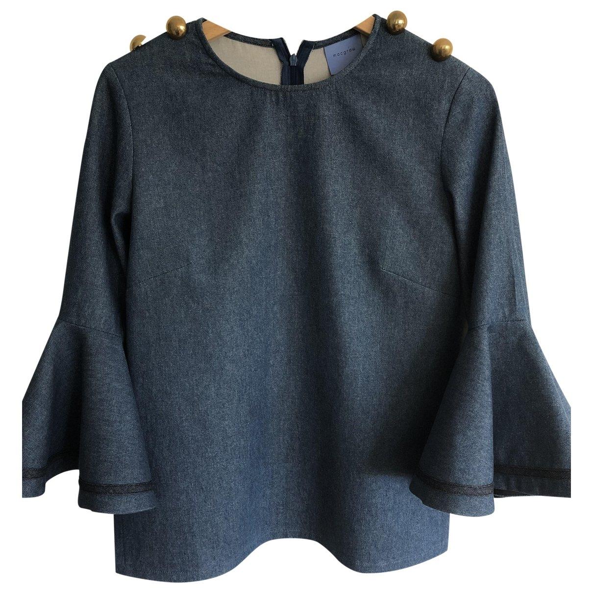 Macgraw - Top   pour femme en coton - bleu
