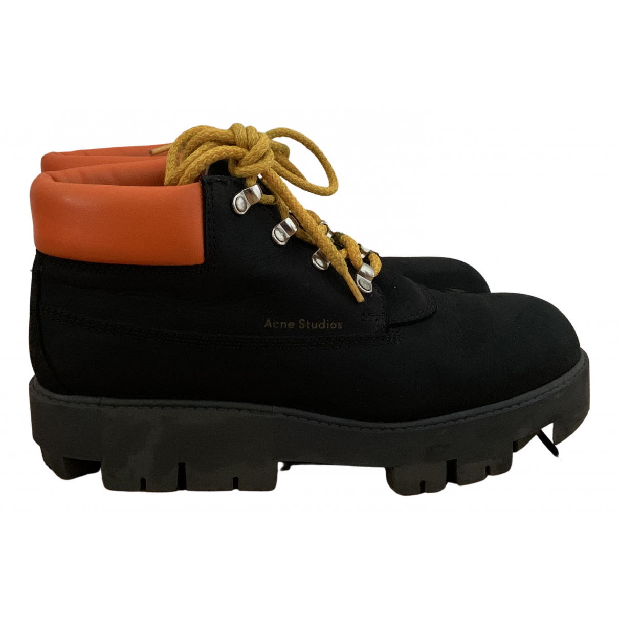 Acne Studios N Black Leather Ankle boots for Women 39 EU