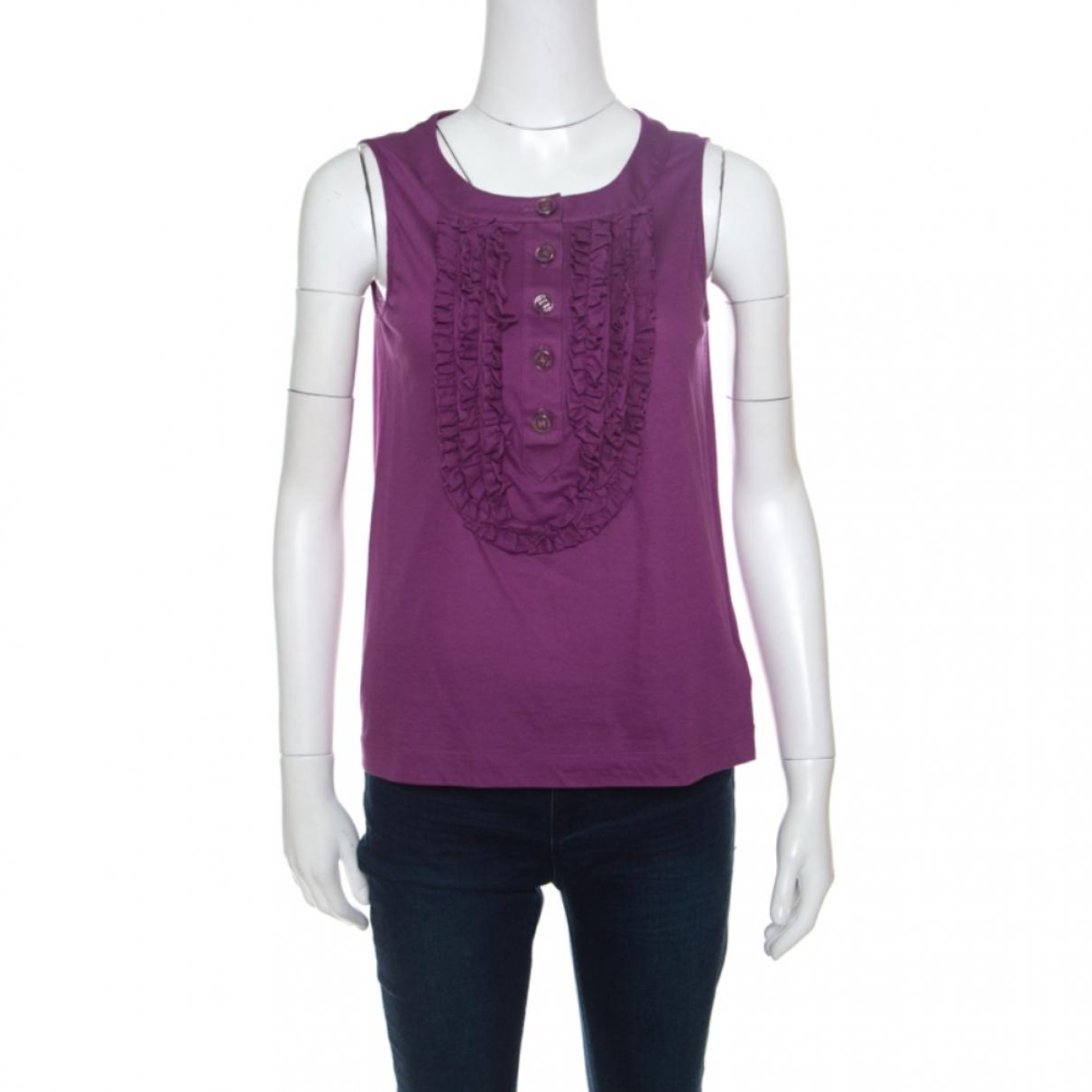 Chanel - Top   pour femme en coton - violet