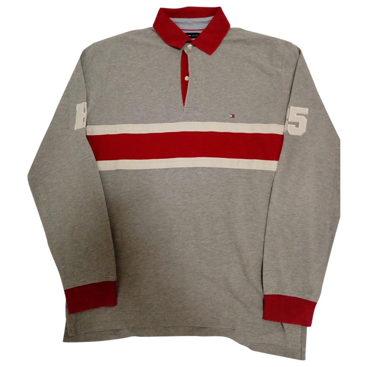 Tommy Hilfiger - Polos   pour homme en coton - gris