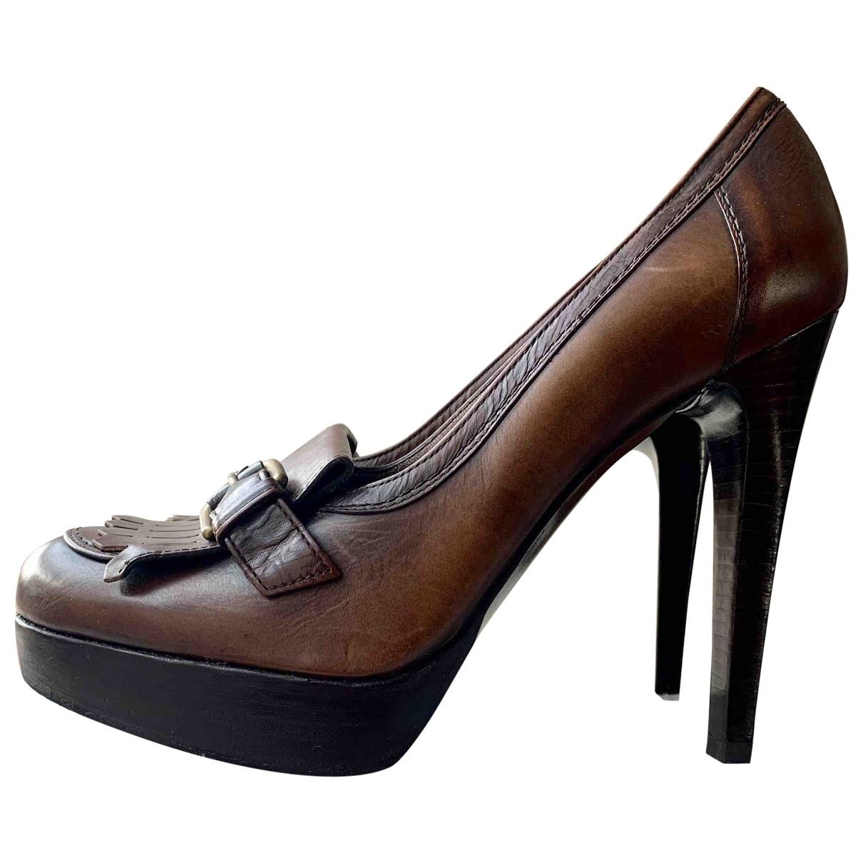 Stuart Weitzman \N Brown Leather Heels for Women 39 EU