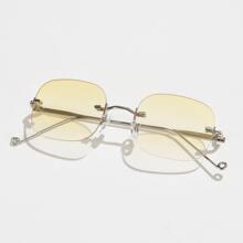 Men Simple Rimless Sunglasses