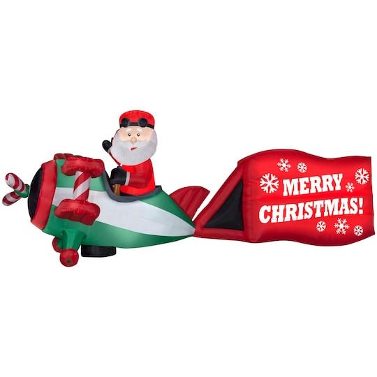 6Ft Colossal Airblown® Inflatable Christmas Santa On Airplane By Gemmy Industries | Michaels®