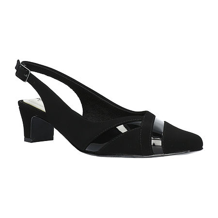 Easy Street Womens Ginny Pumps Spike Heel, 8 1/2 Wide, Black