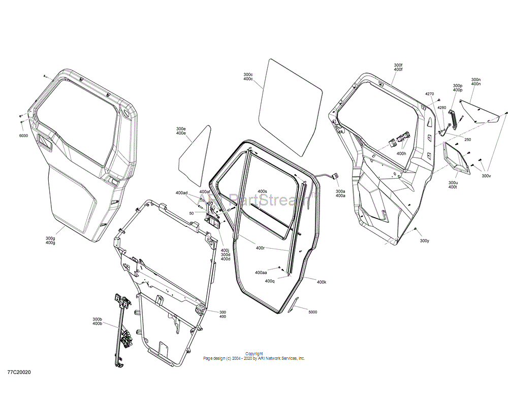 Can-AM OEM RH Door Outer Panel