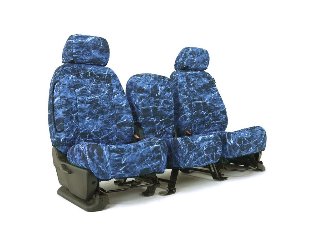 Coverking CSCMO20LX7116 Skanda Custom Seat Covers 1 Row Neosupreme Mossy Oak Elements Marlin Solid Front Lexus RX350   RX450h 2010-2015