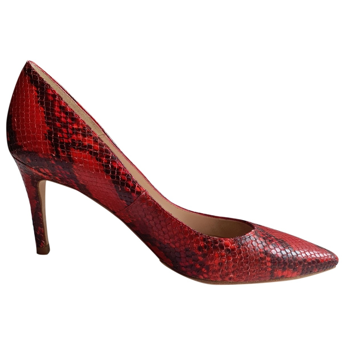 Lk Bennett \N Red Leather Heels for Women 40 EU