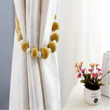 1 Stueck Vorhangband mit Kunstperlen Dekor