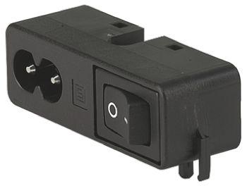 Schurter C8 Right Angle Panel Mount IEC Plug Male, 2.5A, 250 V ac