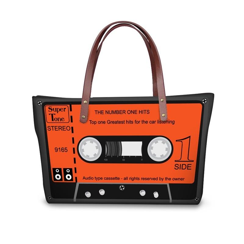 Orange Radio Type Waterproof 3D Printed Shoulder Handbag