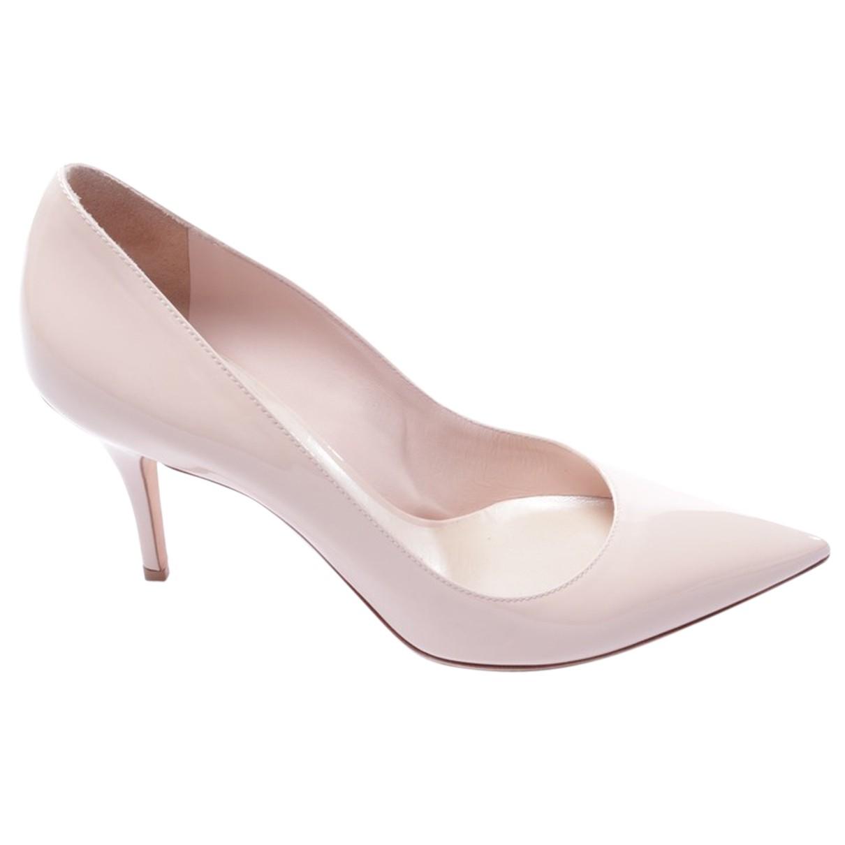 Dior - Escarpins   pour femme en cuir - beige