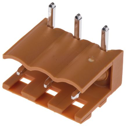 Weidmuller , OMNIMATE SL, 3 Way, 1 Row, Right Angle PCB Header (5)