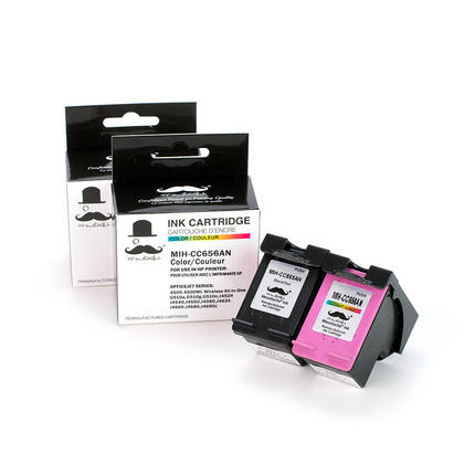 Compatible HP OfficeJet J4680c Ink Cartridges Black and Color - Moustache